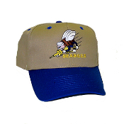 Blue and Tan Seabee Cap