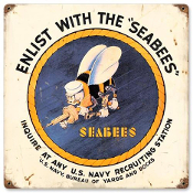 "Seabee ""Vintage"" Sign"