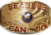 Gold Seabees Belt Buckle