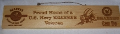 Seabee Veteran Wood Plaque